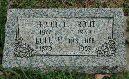 TROUT, LULU V. - Hancock County, Ohio | LULU V. TROUT - Ohio Gravestone Photos