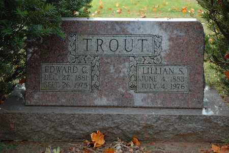 TROUT, EDWARD G. - Hancock County, Ohio | EDWARD G. TROUT - Ohio Gravestone Photos