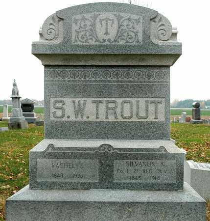 TROUT, SILVANUS W. - Hancock County, Ohio | SILVANUS W. TROUT - Ohio Gravestone Photos
