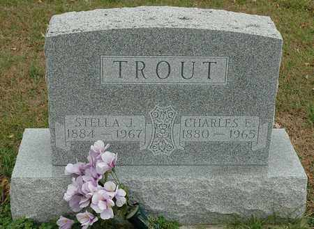 TROUT, CHARLES E. - Hancock County, Ohio | CHARLES E. TROUT - Ohio Gravestone Photos