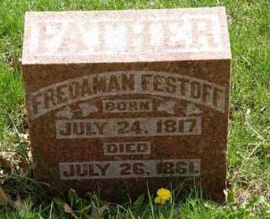 FESTOFF, FREDAMAN - Hardin County, Ohio | FREDAMAN FESTOFF - Ohio Gravestone Photos