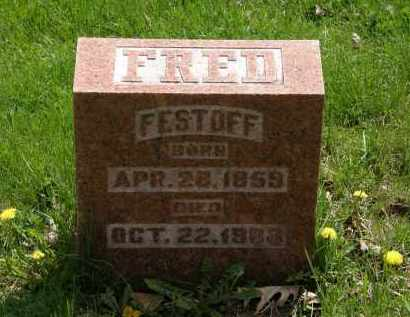 FESTOFF, FRED - Hardin County, Ohio | FRED FESTOFF - Ohio Gravestone Photos