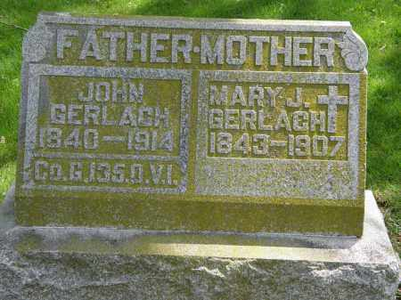 GERLACH, MARY J. - Hardin County, Ohio | MARY J. GERLACH - Ohio Gravestone Photos
