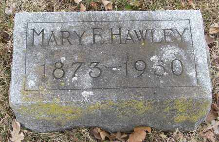 WARNER HAWLEY, MARY E - Hardin County, Ohio | MARY E WARNER HAWLEY - Ohio Gravestone Photos