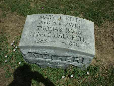 IRWIN, MARY - Hardin County, Ohio | MARY IRWIN - Ohio Gravestone Photos