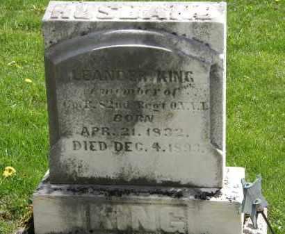 KING, LEANDER - Hardin County, Ohio | LEANDER KING - Ohio Gravestone Photos