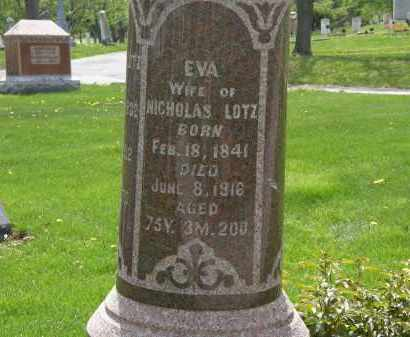 LOTZ, EVA - Hardin County, Ohio | EVA LOTZ - Ohio Gravestone Photos