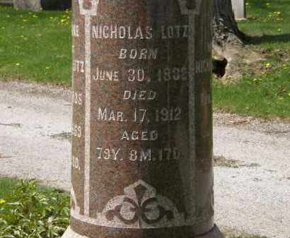LOTZ, NICHOLAS - Hardin County, Ohio | NICHOLAS LOTZ - Ohio Gravestone Photos