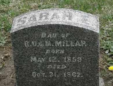 MILLAR, SARAH - Hardin County, Ohio | SARAH MILLAR - Ohio Gravestone Photos