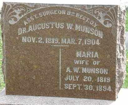 MUNSON, MARIA - Hardin County, Ohio | MARIA MUNSON - Ohio Gravestone Photos