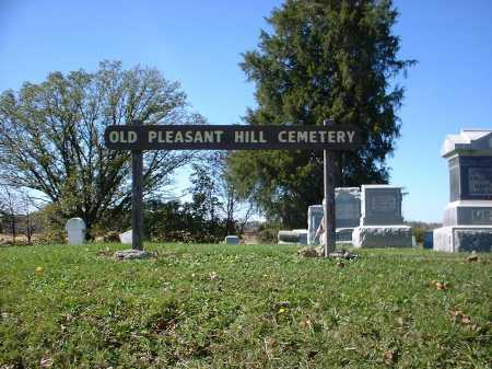 OLD PLEASANT HILL, CEMETERY SIGN - Hardin County, Ohio | CEMETERY SIGN OLD PLEASANT HILL - Ohio Gravestone Photos