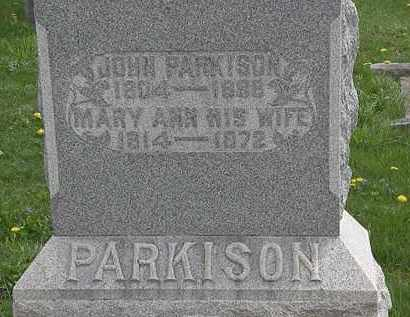 PARKISON, JOHN - Hardin County, Ohio | JOHN PARKISON - Ohio Gravestone Photos