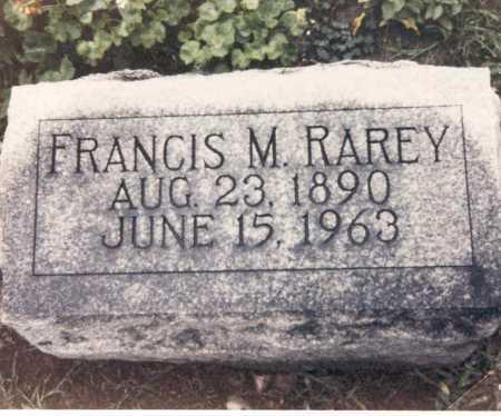 RAREY, FRANCIS M. - Hardin County, Ohio | FRANCIS M. RAREY - Ohio Gravestone Photos