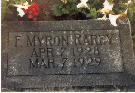 RAREY, F. MYRON - Hardin County, Ohio | F. MYRON RAREY - Ohio Gravestone Photos