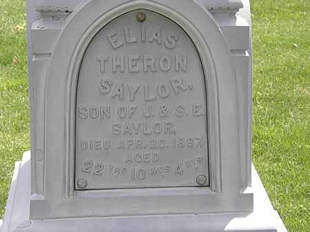 SAYLOR, ELIAS THERON - Hardin County, Ohio | ELIAS THERON SAYLOR - Ohio Gravestone Photos