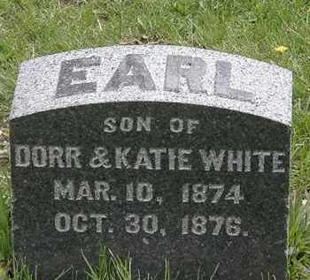 WHITE, EARL - Hardin County, Ohio | EARL WHITE - Ohio Gravestone Photos