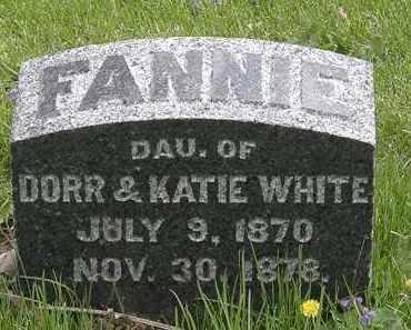 WHITE, FANNIE - Hardin County, Ohio | FANNIE WHITE - Ohio Gravestone Photos