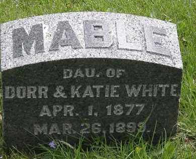 WHITE, MABLE - Hardin County, Ohio | MABLE WHITE - Ohio Gravestone Photos