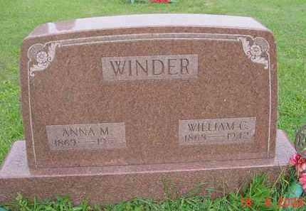 WINDER, ANNA M. - Hardin County, Ohio | ANNA M. WINDER - Ohio Gravestone Photos