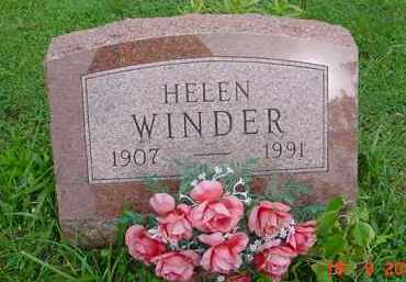 WINDER, HELEN - Hardin County, Ohio | HELEN WINDER - Ohio Gravestone Photos