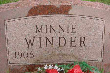 WINDER, MINNIE - Hardin County, Ohio | MINNIE WINDER - Ohio Gravestone Photos