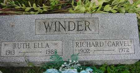 WINDER, RUTH ELLA - Hardin County, Ohio | RUTH ELLA WINDER - Ohio Gravestone Photos