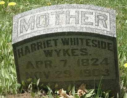 WYKES, HARRIET WHITESIDE - Hardin County, Ohio | HARRIET WHITESIDE WYKES - Ohio Gravestone Photos
