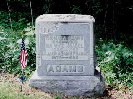 ADAMS FRANCE, LILLIAN - Harrison County, Ohio | LILLIAN ADAMS FRANCE - Ohio Gravestone Photos