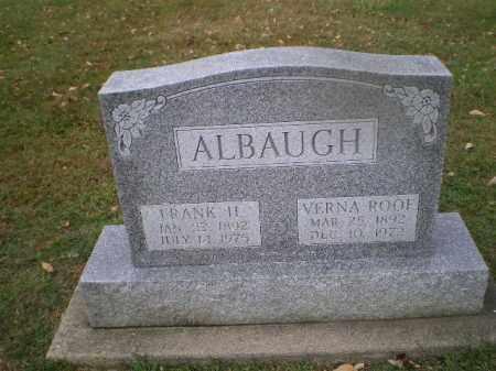 ROOF ALBAUGH, VERNA - Harrison County, Ohio | VERNA ROOF ALBAUGH - Ohio Gravestone Photos