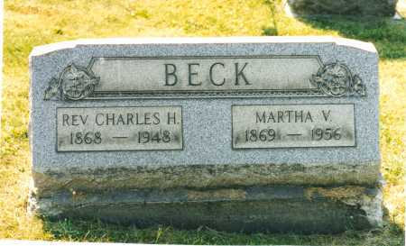 BECK BECK, MARTHA VIRGINIA - Harrison County, Ohio | MARTHA VIRGINIA BECK BECK - Ohio Gravestone Photos