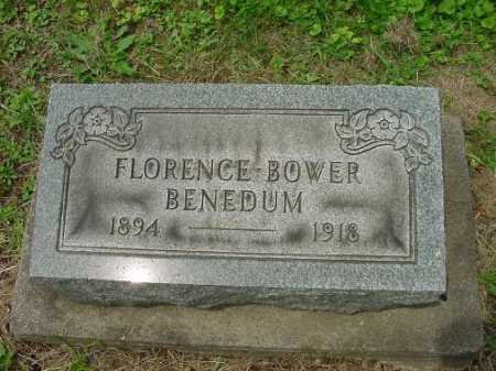 BOWER BENEDUM, FLORENCE - Harrison County, Ohio | FLORENCE BOWER BENEDUM - Ohio Gravestone Photos