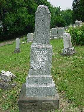 BOWER, SUSAN - MONUMENT - Harrison County, Ohio   SUSAN - MONUMENT BOWER - Ohio Gravestone Photos