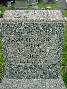 BOYD, EMMA LONG - Harrison County, Ohio | EMMA LONG BOYD - Ohio Gravestone Photos