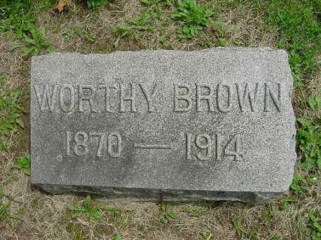 BROWN, WORTHY - Harrison County, Ohio | WORTHY BROWN - Ohio Gravestone Photos