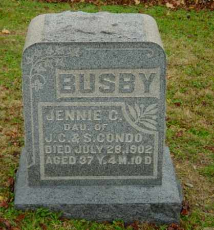 CONDO BUSBY, JENNIE C. - Harrison County, Ohio | JENNIE C. CONDO BUSBY - Ohio Gravestone Photos