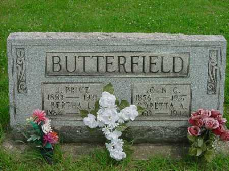 BUTTERFIELD, CORETTA A. - Harrison County, Ohio | CORETTA A. BUTTERFIELD - Ohio Gravestone Photos