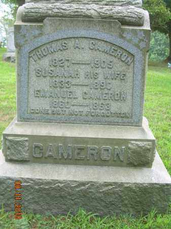 CAMERON, THOMAS A - Harrison County, Ohio | THOMAS A CAMERON - Ohio Gravestone Photos