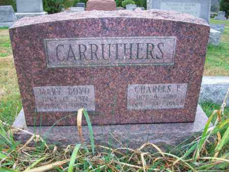 BOYD CARRUTHERS, MARY MARTHA - Harrison County, Ohio | MARY MARTHA BOYD CARRUTHERS - Ohio Gravestone Photos