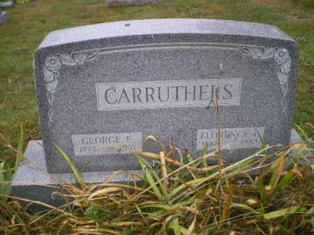 CARRUTHERS, FLORENCE E - Harrison County, Ohio | FLORENCE E CARRUTHERS - Ohio Gravestone Photos