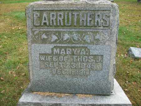 CARRUTHERS, MARY ANN - Harrison County, Ohio | MARY ANN CARRUTHERS - Ohio Gravestone Photos