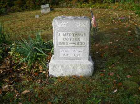 COTTON, JOHN MERRYMAN - Harrison County, Ohio | JOHN MERRYMAN COTTON - Ohio Gravestone Photos