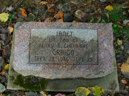 CRAIGO, JANET - Harrison County, Ohio | JANET CRAIGO - Ohio Gravestone Photos