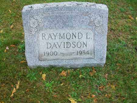 DAVIDSON, RAYMOND L - Harrison County, Ohio | RAYMOND L DAVIDSON - Ohio Gravestone Photos