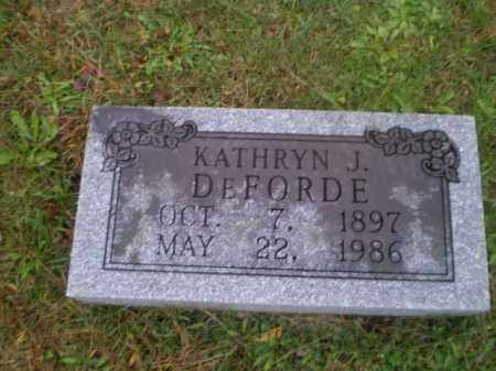 DEFORDE, KATHRYN J - Harrison County, Ohio | KATHRYN J DEFORDE - Ohio Gravestone Photos