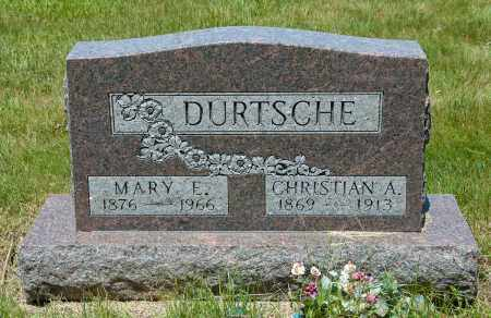 KLOPFENSTEIN DURTSCHE, MARY E. - Harrison County, Ohio | MARY E. KLOPFENSTEIN DURTSCHE - Ohio Gravestone Photos