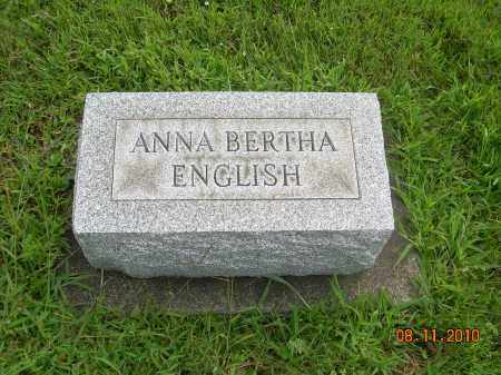 ENGLISH, ANNA BERTHA - Harrison County, Ohio | ANNA BERTHA ENGLISH - Ohio Gravestone Photos