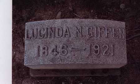 GIFFEN, LUCINDA - Harrison County, Ohio | LUCINDA GIFFEN - Ohio Gravestone Photos