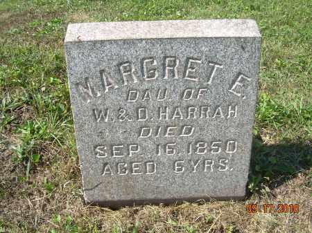 HARRAH, MARGRET E - Harrison County, Ohio | MARGRET E HARRAH - Ohio Gravestone Photos