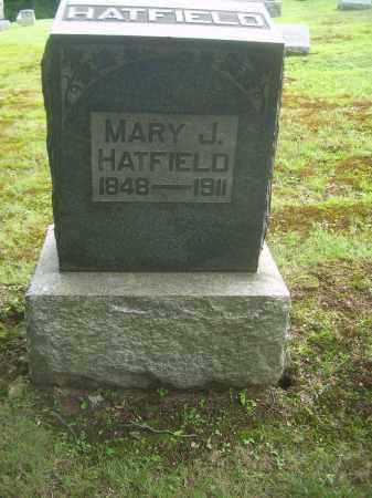 HATFIELD, MARY J - Harrison County, Ohio   MARY J HATFIELD - Ohio Gravestone Photos