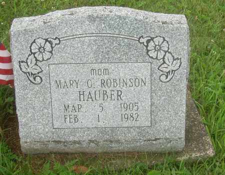 ROBINSON HAUBER, MARY O - Harrison County, Ohio | MARY O ROBINSON HAUBER - Ohio Gravestone Photos